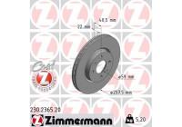 Brake Disc COAT Z 230.2365.20 Zimmermann
