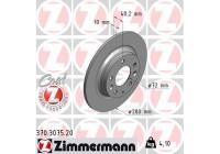 Brake Disc COAT Z 370.3075.20 Zimmermann