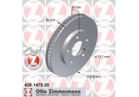 Brake Disc COAT Z 430.1479.20 Zimmermann