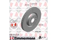 Brake Disc COAT Z 600.3243.20 Zimmermann