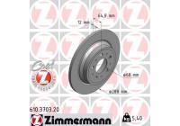 Brake Disc COAT Z 610.3703.20 Zimmermann