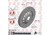 Brake Disc FORMULA Z BRAKE DISC 100.3368.70 Zimmermann