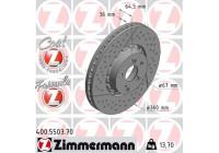Brake Disc FORMULA Z BRAKE DISC 400.5503.70 Zimmermann