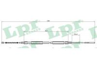 Cable, parking brake C0306B Lpr