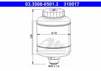 Expansion Tank, brake fluid