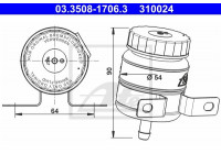 Expansion Tank, brake fluid