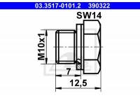 Screw Plug, brake master cylinder 390322 ATE