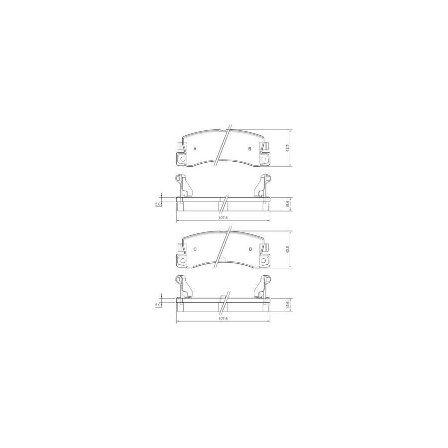 COMLINE REAR AXLE BRAKE PADS FOR TOYOTA MR 2 I II III 1.6 2.0 1.8 ADB3756