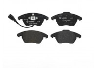 Brake Pad Set, disc brake 23587 Brembo