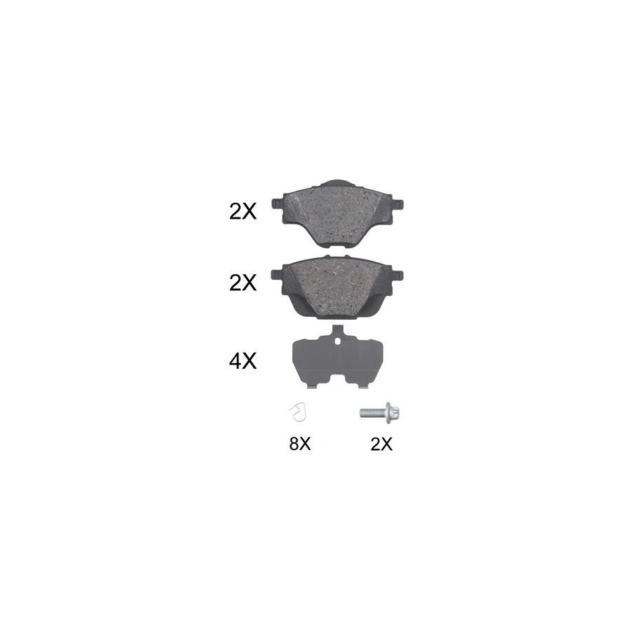 5502221976 EuroBrake Rear Disc Brake Pads