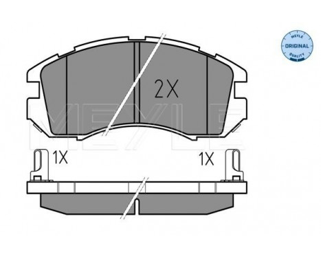 Brake Pad Set, disc brake MEYLE-ORIGINAL Quality