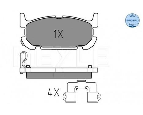 Brake Pad Set, disc brake MEYLE-ORIGINAL Quality