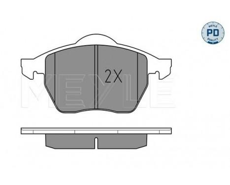 Brake Pad Set, disc brake MEYLE-PD Quality, Image 2
