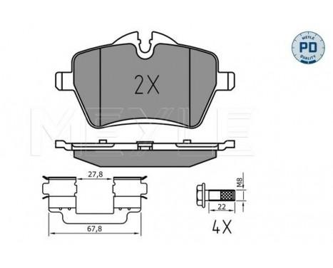 Brake Pad Set, disc brake MEYLE-PD Quality