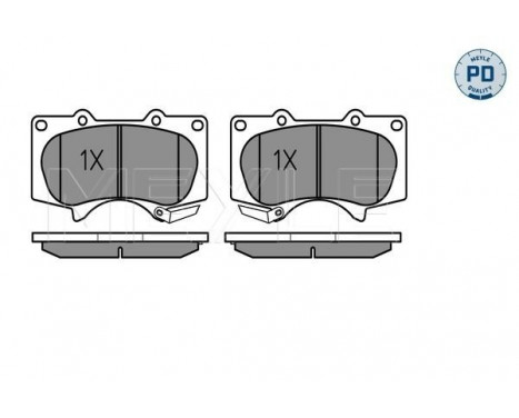 Brake Pad Set, disc brake MEYLE-PD Quality