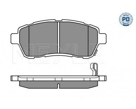 Brake Pad Set, disc brake MEYLE-PD Quality, Image 3