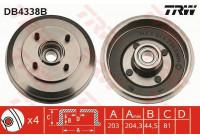 Brake Drum DB4338B TRW