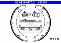 Brake Shoe Set, parking brake 650170 ATE