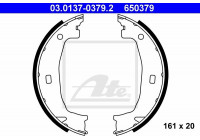 Brake Shoe Set, parking brake 650379 ATE