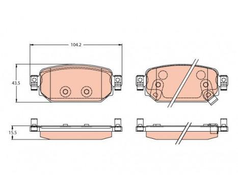 Bromsbeläggssats, skivbroms GDB2172 TRW