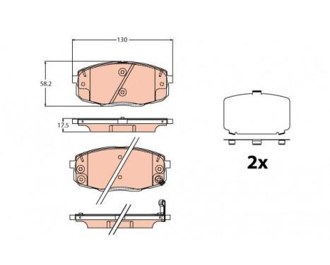 Bromsbeläggssats, skivbroms GDB2192 TRW