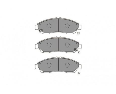 Bromsbeläggssats, skivbroms KBP-2071 Kavo parts