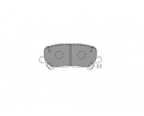 Bromsbeläggssats, skivbroms KBP-2072 Kavo parts