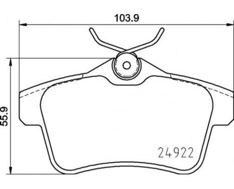 Bromsbeläggssats, skivbroms P 06 102 Brembo