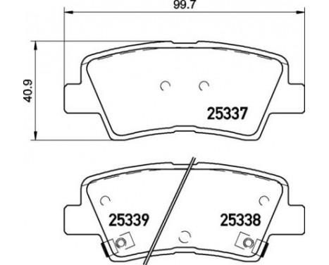 Bromsbeläggssats, skivbroms P 30 094 Brembo