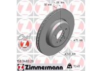 Bromsskiva COAT Z 150.3483.20 Zimmermann