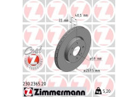 Bromsskiva COAT Z 230.2365.20 Zimmermann