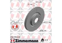 Bromsskiva COAT Z 250.1353.20 Zimmermann