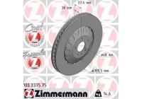 Bromsskiva FORMULA Z COAT Z 100.3375.75 Zimmermann