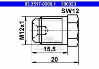 Låsskruv, huvudbromscylinder 390323 ATE