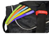Bagage label set klittenband, 6 st. in verschillende kleuren