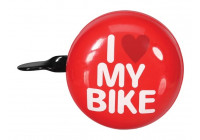 BICYCLE BELL - 'I LOVE MY BIKE' - Ø 8 cm - RED