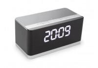 DRAADLOZE MINI HIFI-LUIDSPREKER MET KLOK - AUX + FM + USB + MICRO-SD