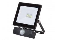 LED-SCHIJNWERPER VOOR BUITENSHUIS - 10 W, NEUTRAALWIT - ZWART - PIR