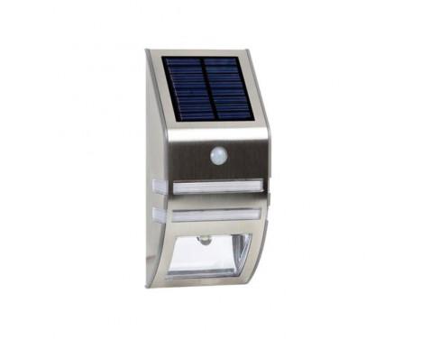Solar tuinwandlamp in roestvrij staal winpartscaribbean