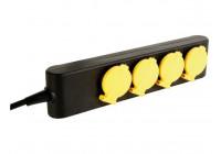 4-VOUDIGE STEKKERDOOS - IP44 - PENAARDE