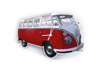 VW T1 Wandklok - CLASSIC RED
