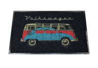 VW T1 Bus deurmat, 45 x 75cm samba & beetle