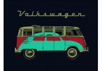 VW T1 Bus fleece deken