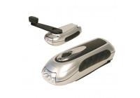 Dynamo led zaklamp/lader voor mobiele telefoon (3 leds)