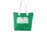 VW T1 canvas  shopper - groen