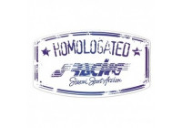 Simoni Racing Sticker 'Homologated' - 105x60mm