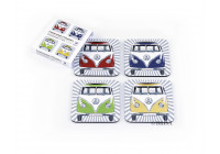 VW T1 Bus Coasters, 4-delig set - Bus Front, 4 kleuren