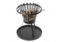 FIRE BASKET WITH ASH PLATE - ROUND