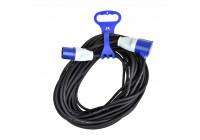 Cable tie with handle for CEE extension cable