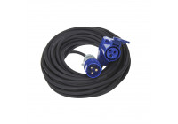 CEE extension cable 10M with angle socket + Schuko socket